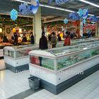 Horizontal island ark , supermarket display island freezer