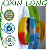 segment colors free silicone wristbands for lovers