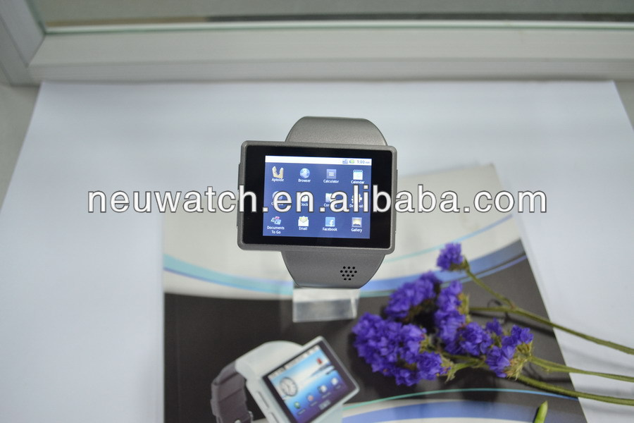2013 android watch phone with 2.0 inch capacitive screen + GPS + WIFI + G sensor + CE + ROHS + facebook+ Twitter