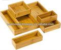 de bambú pequeña organizadores de la cocina