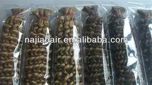 MOQ 1 pcs ,Top selling brazilian bulk hair 100% humn virgin hair provide in bulk mixed length