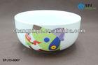cartoon design ceramic/ porcelain cereal bowl ,porcelain bowl