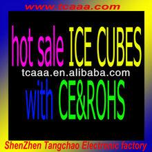 plastic reusable vodka led glow ice cube