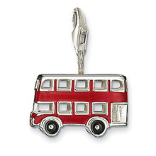 China Wholesale Fashion Metal Enamel Bus Charm With Lobster Clasp