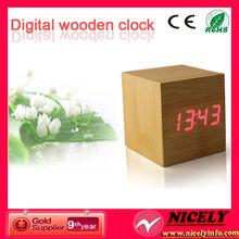 2014 digital wooden led clock carpet alarm clock