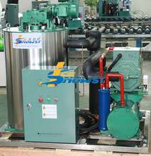 Supermarket Flake Ice Machine/maker with Bitzer Piston Compressor 3T/day