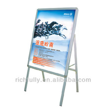 Folding Single-side Aluminum Poster Display Stand with picture printed