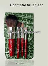 2014 china top 10 fashion makeup brushes cosmetic brush set for acrylic false fake full cover airbrush nails tips