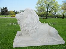 Sleeping Lion Statues