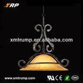 Cam asılı gölge dekorasyon oturma odası antika lambaları
