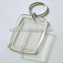 Making acrylic keychains photo frame blank keyring for promotion