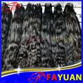 6A peruana extensión del pelo humano, Peruano de la virgen natural ondulado barato peruano venta al por mayor mojado y ondulado del pelo humano