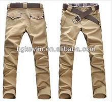 wholesale khaki pants leisure slim fit men khaki twill chino pant long trousers