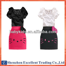 Adorable Baby Cotton Wear Adult Lady Girls Fit Party Dress