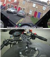 Black Adjustable Motorcycle Gas Tank Mount Camera Phone GPS Bracket For Kawasaki