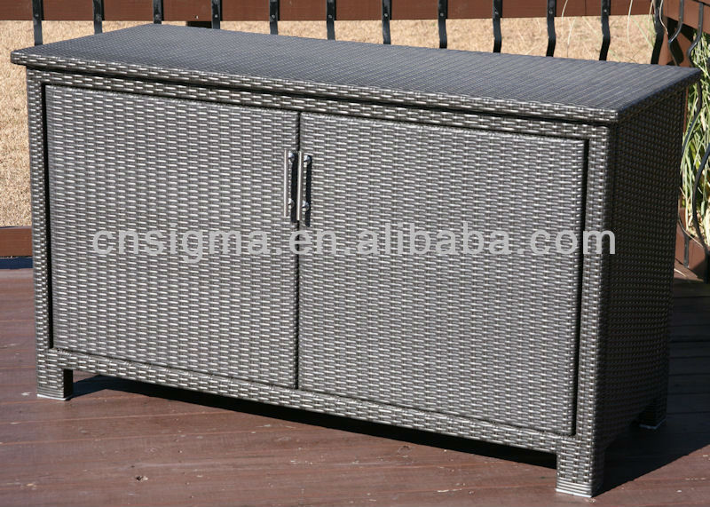 2013 all weather resin wicker patio furniture storage cabinet amp buffet