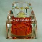 custom made red empty crystal perfume bottle