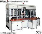 Plastic film laminating machine for card making