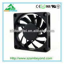 2012 high speed plastic 3pin 70mm case fan