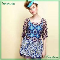 Ladies' Fashionable daisy crochet adult sweater garment