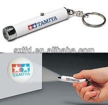 led flashlight keychain bulk,promotional projector logo torch keychain