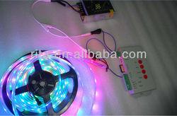 BLACK PCB 5m DC5V 30leds/m WS2812B led pixel srip,IP68 + T-1000S sd controller+ 5V/7A power adapto