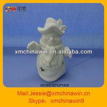 2013 boneco de cerâmica bisque enfeite de natal