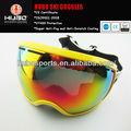 la parte superior de la fábrica de diseño reemplazables amarillo lente uv gafas de esquí para el hombre