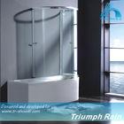 AQSC1601CL elegant style sliding over-bath shower screen
