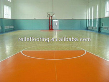 vinyl floor covering rolls for basketball court with 3.5mm/4.5mm/6.0mm