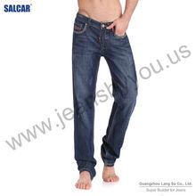 Male's Wrinkled Blue Midrise Simple Style Lavish Jeans Longs (LSMPC8006-1)