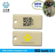 Silicone qr code dog tags /pet id tags/qr id dog tags