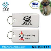 Silicone qr code dog tags /pet id tags/id dog tags