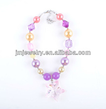 lovely handmade pearl and crystal chunky beads necklace for kids