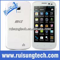 "MIZ Z1 Quad core 512MB ram 4.5"" 960*540 Android 4.1 dual core 12 MP camera MTK6589 3G mobile phone"