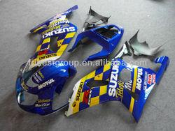 ABS Fairings Kit For SUZUKI GSXR600 GSXR750 01-03 Movistar Fairing Kit