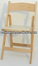 wood padded folding chair