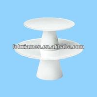 Food Network White Porcelain Cake Plates