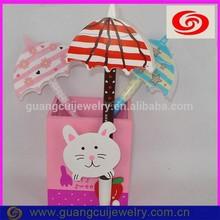 fashion plastic different color pen umbrella shape for kids