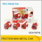 Friction toy metal fire truck Kids mini die cast model car OC0179778