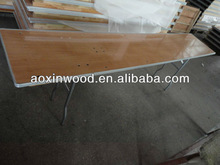 Folding Plywood Table with Metal edging for party rental