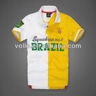 2013 latest custom design national emblem embroidery mens polo shirt