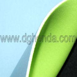 Silvery green polyester jersey cloth bond 2.0mm creamy-white SBR bond light blue nylon jersey cloth