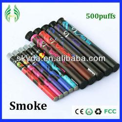 fruit vapor 500 puffs e smoking diposable shisha hookah pen