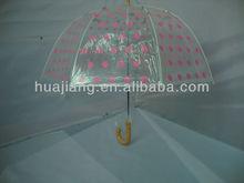 Hot sales light-blue pretty lady transparent apollo umbrella