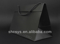 AEP 2013 New style boutique paper bag for customized brand in triangular prism shape