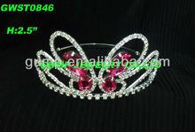 pink butterfly tiara crown