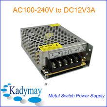 Modern&Adjustable 12V 3A Switching Power Supply Adaptor, By best Manufacturer&Supplier