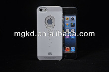 2013 Hot sell IMD pure color mobile phone crystal case cover with diamond for apple iphone 5