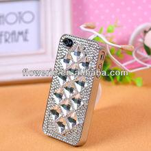 FL159 fashion diamond rhinestone crystal bling rhombic Squares case for iphone 4 iphone 5